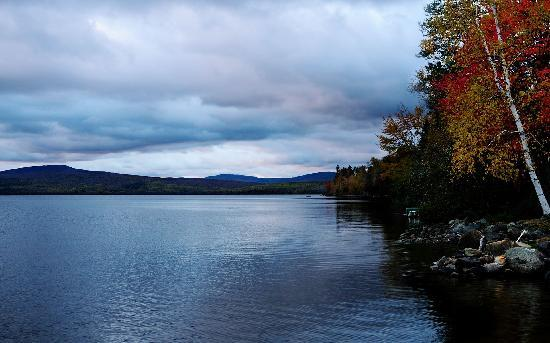 Hunter Cove Cabins on Rangeley Lake: Sunrise on the Lake