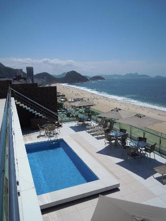 Arena Copacabana Hotel: terrace