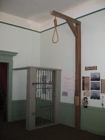 """Astoria Heritage Museum - """"frontier justice"""" exhibit"""