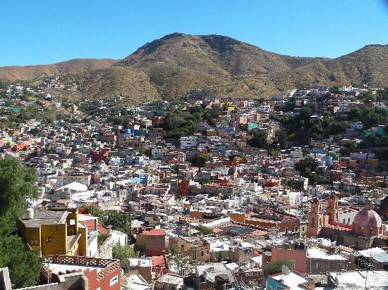 Casa Zuniga B&B: View of Guanajuato from our Balcony