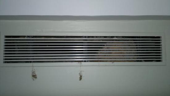 Golden Landmark Resort: dust hanging out of A/C vent
