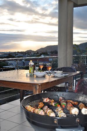 78on5th in Hermanus: BBQ on balcony