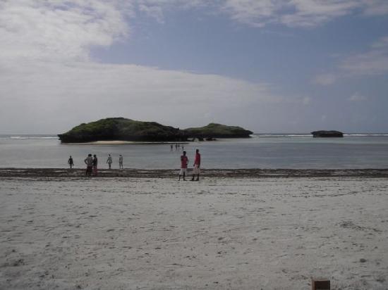 Aquarius Club: La spiaggia davanti al villaggio con gli onnipresenti beach boys