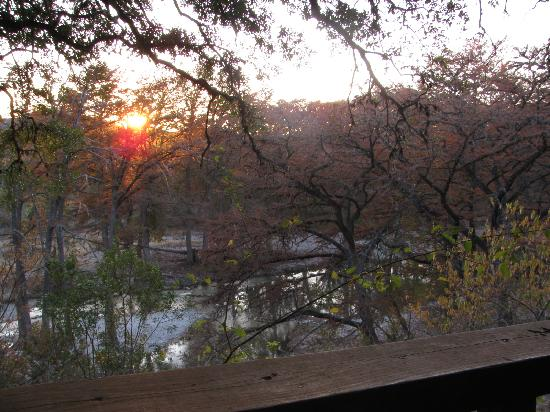 River Haven Cabins: Sunset from the back porch.