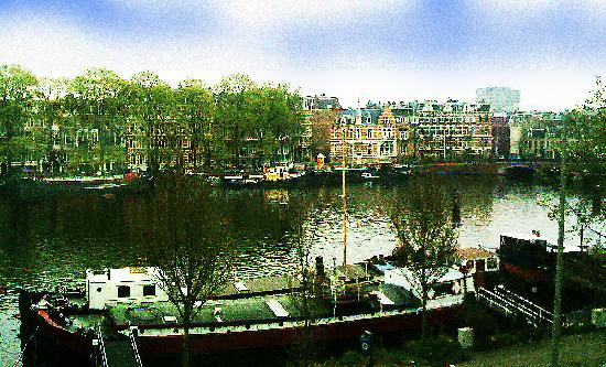 AmstelRiverView: The Amstelriver in the city center of Amsterdam