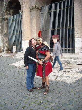 Tour in Rome: Me and the sweet Roman Guard