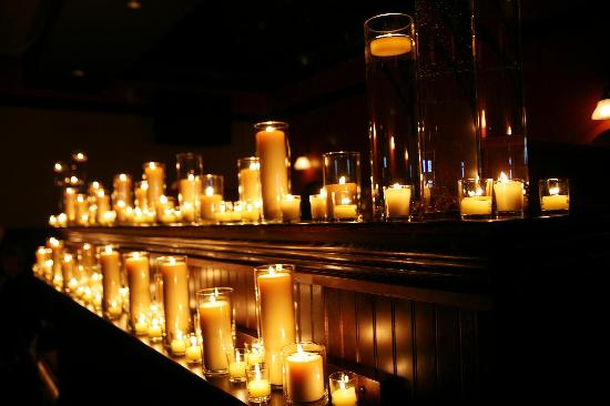 The Great Dane Pub and Brewing Co. Wausau: Candle display set up by Great Dane