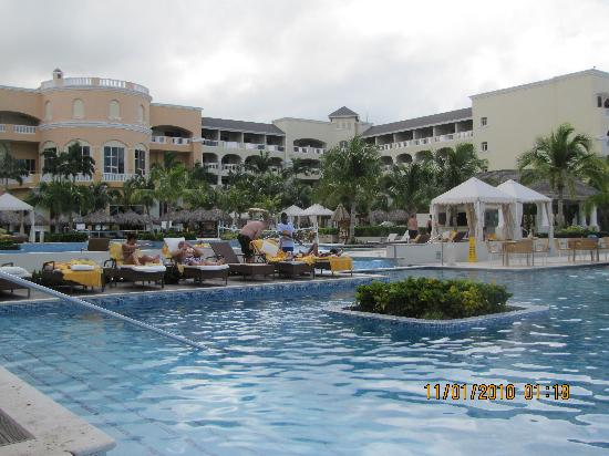 Iberostar Grand Hotel Rose Hall: The infinity pools, & tiki huts,& cabanas