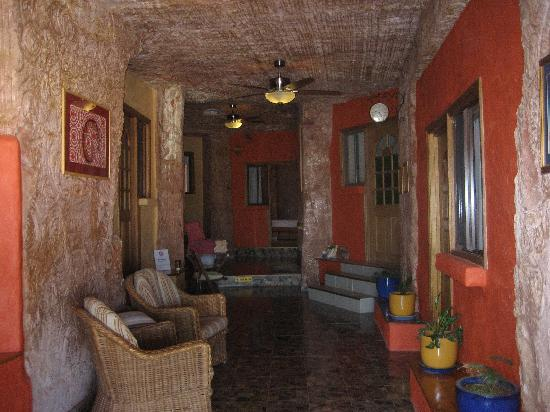 The Underground Motel: Main hallway leading to underground rooms