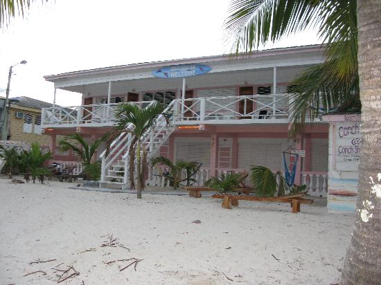 Conch Shell Inn: View of the front from water's edge