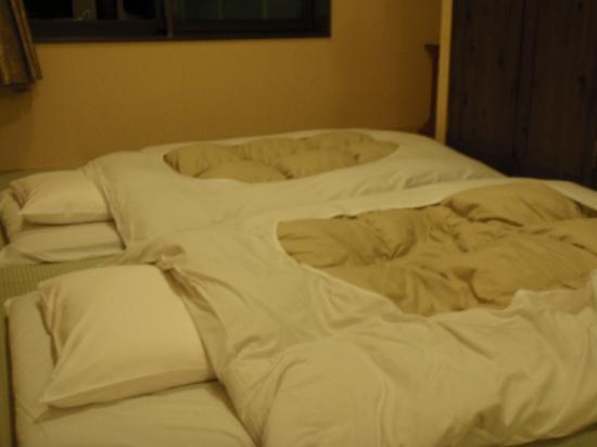Hatago Ichinoyu: Futon bed