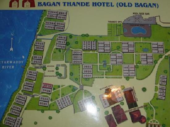 map - Picture of Bagan Thande Hotel - TripAdvisor