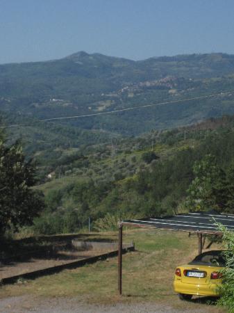 Hotel Terre d'Orcia: Blick von userem Balkon auf Seggiano