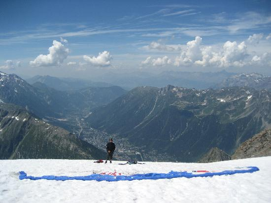Absolute Chamonix Paragliding: Our jump off point