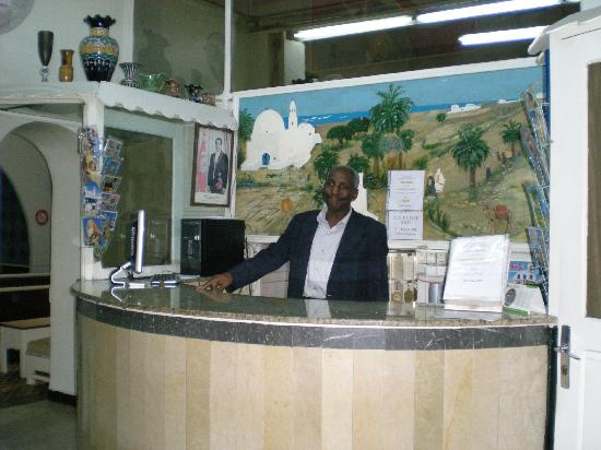 Hotel Salammbo: Receiption Area and the Friendly Staff