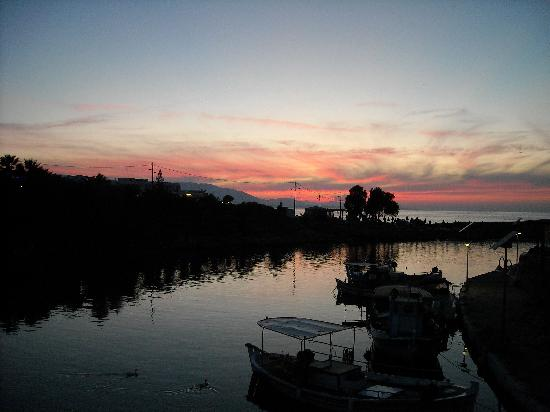 Sissi, Greece: Red sky at night