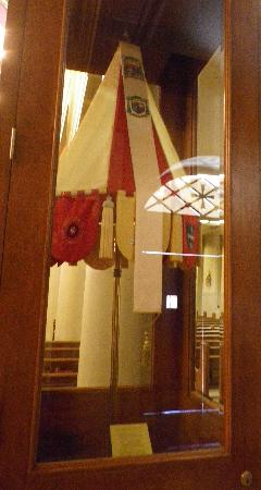 St. Louis Cathedral: This is a Papal umbrella that marks Pope John Paul II's visit