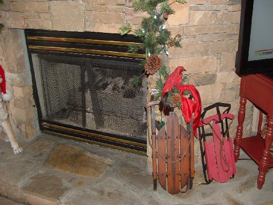 Willow Brook Lodge: Nice fireplace in lobby