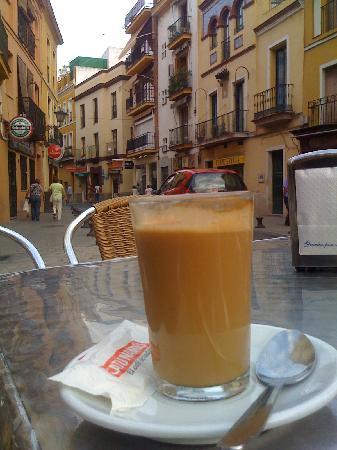 Pension Virgen de la Luz : Coffee across the Street from the Pension