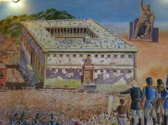 Casa Zuniga B&B: Mural of the Alhondiga de Granaditas in Guanajuato; don't miss Rick's history lecture!