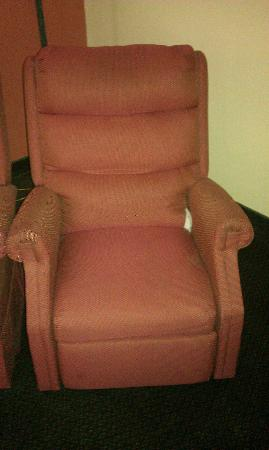 Comfort Inn Ottawa : Ripped/stained recliner