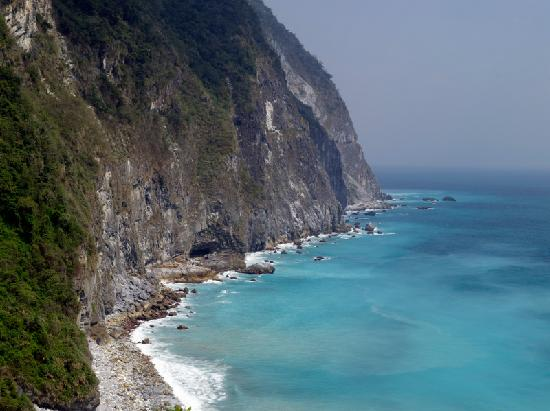 Taroko National Park, Xiulin: The cliff from Hualien