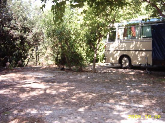 Camping Malvarrosa de Corinto: Parcelas caravanas / autocaravanas