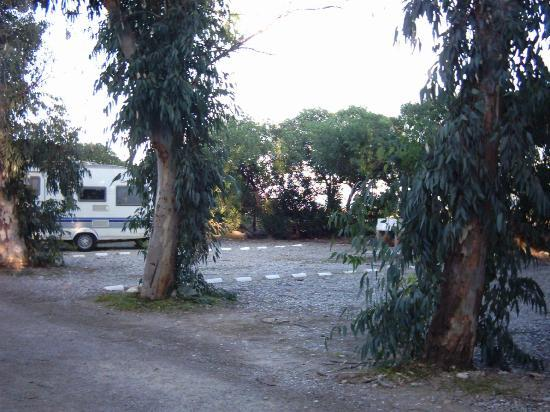 Camping Malvarrosa de Corinto: Parcelas en la playa/ on the beach