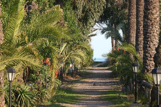Camping Malvarrosa de Corinto: Camino hacia la playa