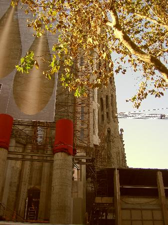 Glory Facade Guest House: You can see this almost from the door of the building (Sagrada Familia)