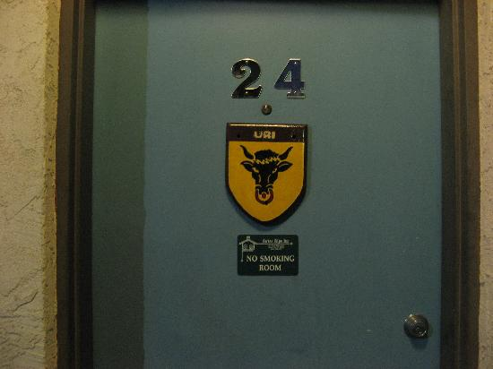 Swiss Alps Inn: every room is named for a Swiss canton--Room #24, Uri
