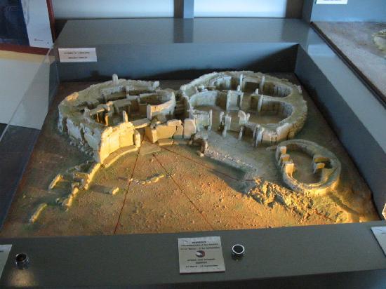 Temples mégalithiques de Mnajdra : Maquette