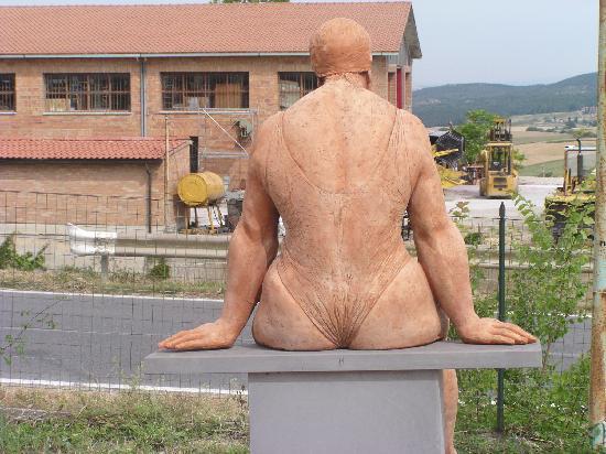 Пиенца, Италия: Ceramic Shop Model in Pienza