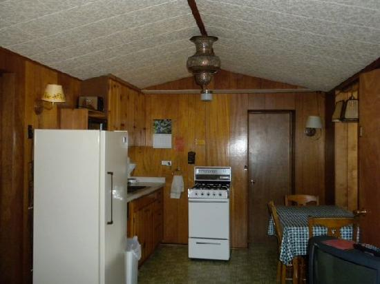 Machin's Cottages in the Pines: Kitchen area of cabin