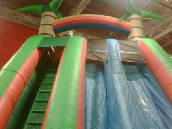 Our rafters are filled with new inflatables~come see all thats new at Charlie's Safari