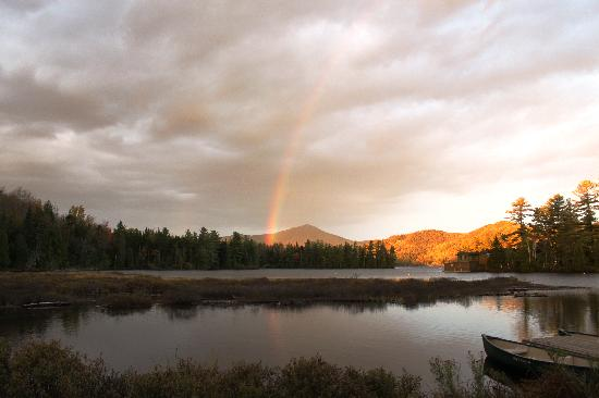 Placid Bay Inn: Rainbow over Whiteface