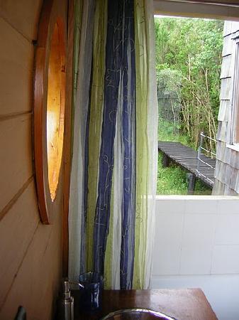 Tarahuin Lodge: vista del baño