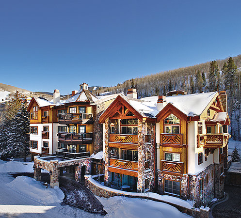 Willows Condominiums at Vail: Willows backs up to Vail Mountain