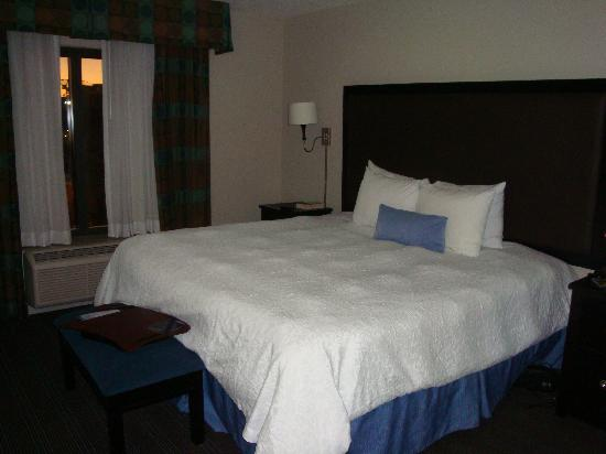 Hampton Inn & Suites Nashville - Downtown: HUGE king sized, comfy comfy bed
