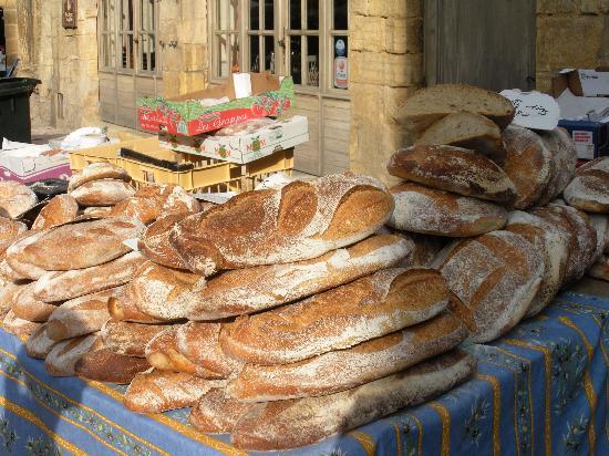 Sarlat Market: Bread Heaven
