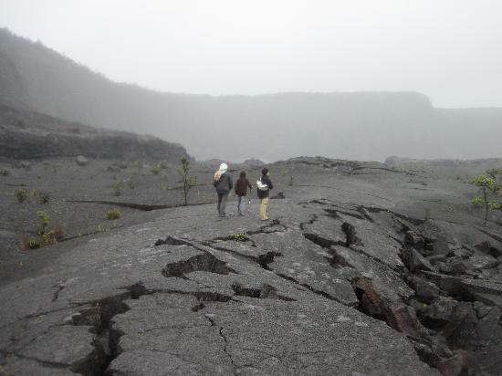 Kilauea Iki Trail: mmm....solidified lava.