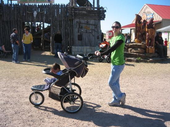 Dewberry Farm: Strollers are welcome.