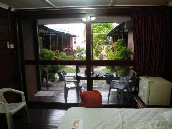 Nipah Bay Villa: View from Bedroom to terrace