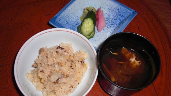 Shiraume: Rice with soup