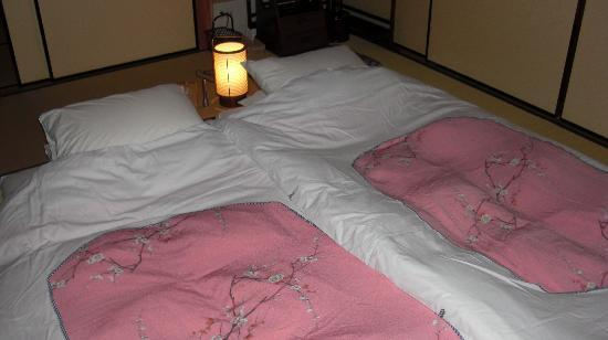 Shiraume: Futon beds with night light and alarm clock