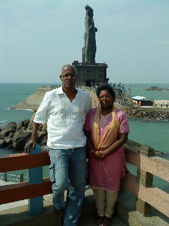 Udhyam Hotel: My wife and me in Kanyakumari Vivekananda Memorial