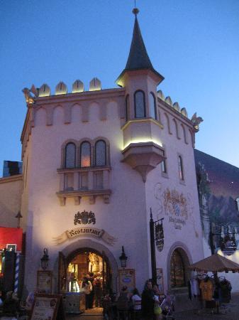 Disney Village: King Ludwig's Castle restaurant.