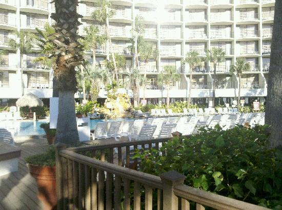 Holiday Inn Resort Panama City Beach Hotel View Coming In From