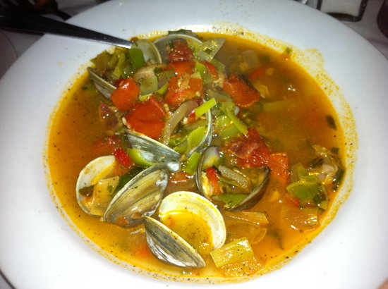 Dock's Oyster House: The Manhattan clam chowder was amazing
