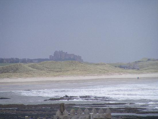 The Bamburgh Castle Inn: Bamburgh Castle in the distance